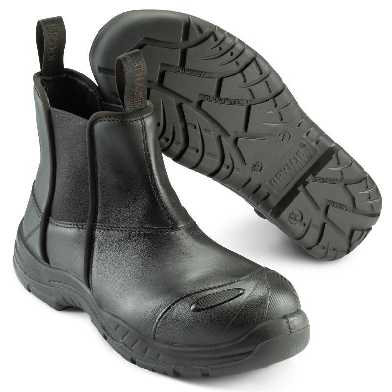 BRYNJE 369 Tasmania sikkerhedsstøvlet. Nylonstropper. Elastik i skaft
