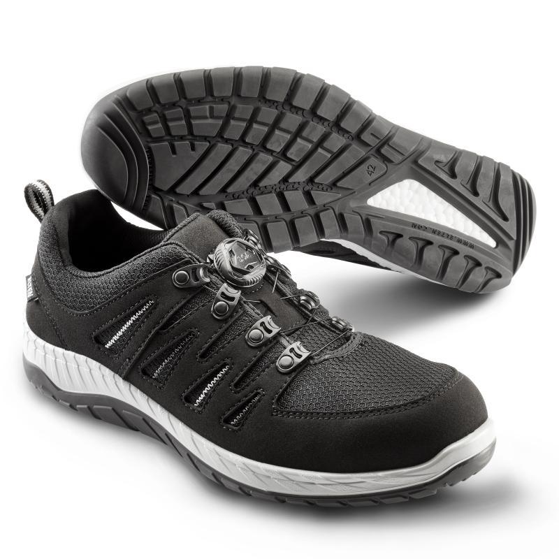 ELTEN 729161 Maddox BOA® Black-Grey Low sikkerhedssko. BOA® Fit System